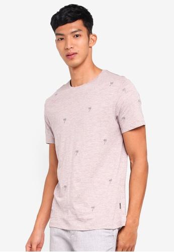 Burton Menswear London 粉紅色 短袖印花刺繡T恤 884F9AA7B5FD7BGS_1