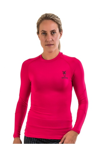 AMNIG pink Amnig Maxforce Recapture Compression Long Sleeve Top (Berry) 2FD46AA335B65BGS_1