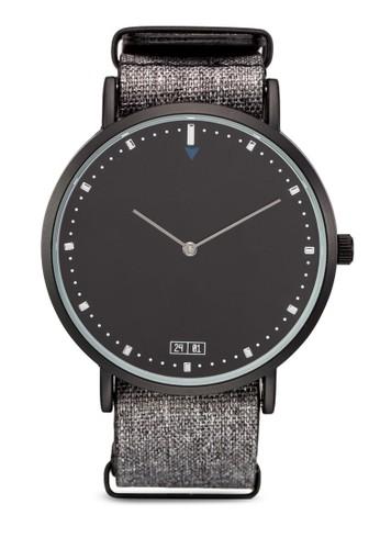 暗紋尼龍圓esprit 折扣框情侶對錶, 錶類, 休閒型