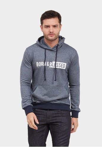 Born And Blessed blue Sweatshirts hoodie Vladimir 52886AADBC0A4BGS_1