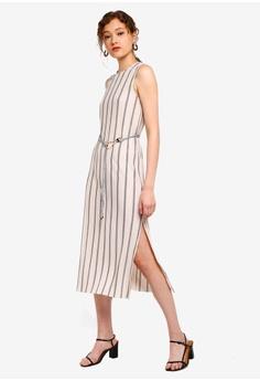 c7eefedde9161 15% OFF TOPSHOP Plisse Stripe Belt Midi Dress S$ 79.90 NOW S$ 67.90 Sizes 4  6 8 10 12