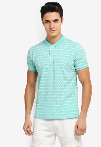JAXON green Nautical Stripe Polo Shirt 13DC8AAFB4C1EBGS_1