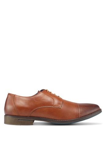 Bata brown Perforated Dress Shoes 800B5SH1862EC4GS_1