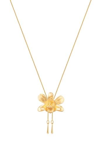 RISIS gold RISIS 24K Gold Plated Natural Dendrobium Thong Chai Orchid Slider FD56BACFCAB0A7GS_1
