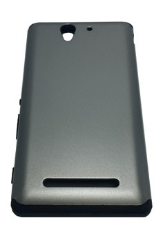 Sleek Shockproof Case for Sony Xperia C3 (Grey)