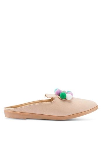 Berrybenka 米褐色 Malaya Mecmar 懶人鞋 21840SH9A90823GS_1