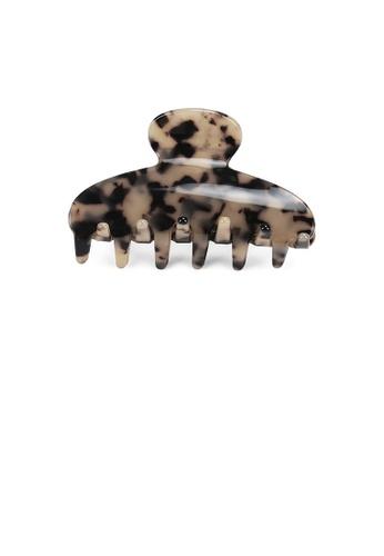 Glamorousky silver Fashion High-end Beige Tortoiseshell Geometric Small Hair Claw E6BFEAC45A6B3EGS_1