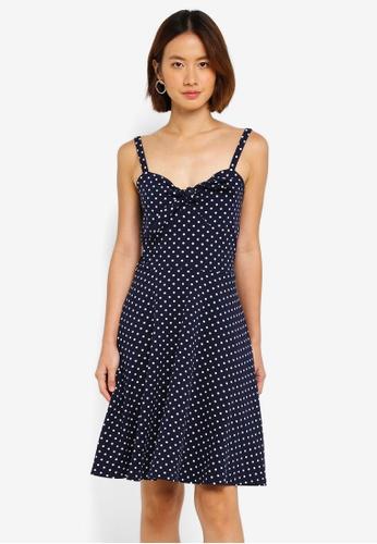Dorothy Perkins blue Blue Spot Strappy Sundress 87D42AA0D176FFGS_1