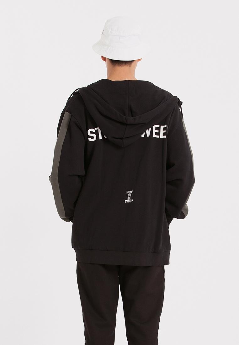 Black Sweat CONNECT Colorblock Jacket H aFxIqIwfP
