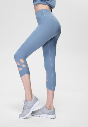 HAPPY FRIDAYS Nude Cropped Sports Tights QF18-1311 89CC8AAA35D4C2GS_1