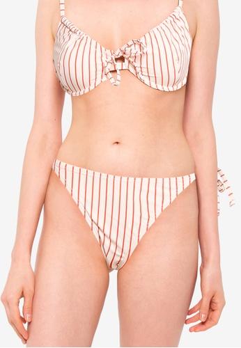 Cotton On Body orange Tie Side Hipster Cheeky Bikini Bottom 9AC46US137E5AFGS_1