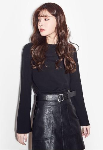 NAIN black Basic Long Sleeve Top AD467AA6B9AA91GS_1