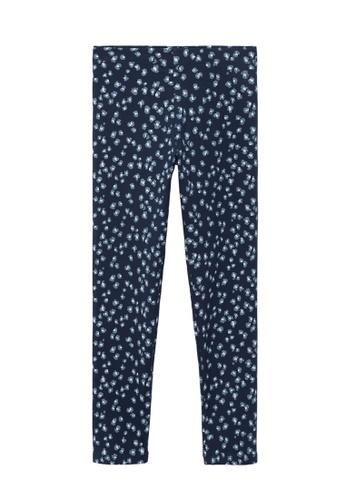 MANGO KIDS blue Printed Cotton Leggings 25057KAEB24548GS_1