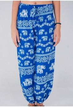 Alternative Elephant Patterned Harem Pants