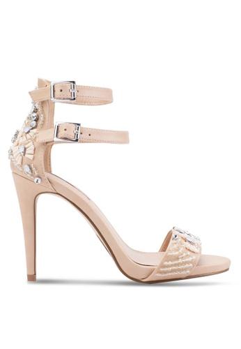 Miss Selfridge pink Carmel Jewel Strap Sandals MI665SH10ZLPMY_1