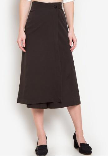 Plains & Prints black Lexter Culottes Pants PL509AA01TLAPH_1