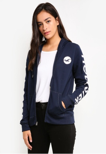 Hollister navy Technique Core Logo Hoodie 7E8FFAA9BF189BGS_1