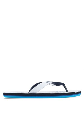 Superdry white and blue and multi and navy Tricolour Flip Flops 8ACFBSHF844E35GS_1