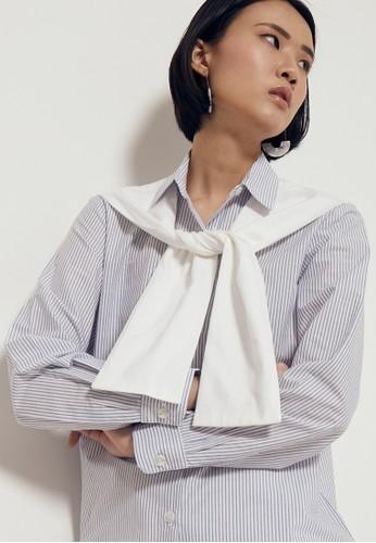 ALYCIA CLOTHING blue Keiza Shirt 66701AABE96397GS_1