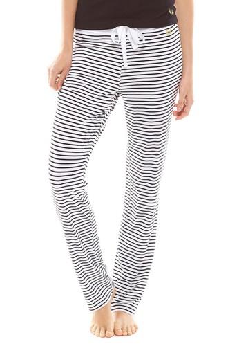 Essential 條紋寬鬆zalora 包包評價休閒長褲, 服飾, 睡褲