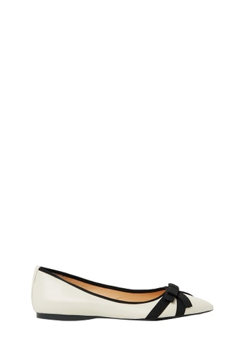 Nina Armando beige Dianne Leather Ballet Flats NI342SH0FV8ISG_1
