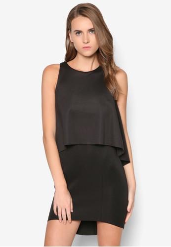 層次鏤空連身裙, 服飾,zalora是哪裡的牌子 晚宴禮服