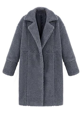 Twenty Eight Shoes grey VANSA Solid Color Cashmere Coat  VCW-C0407 CBD8BAAA789918GS_1