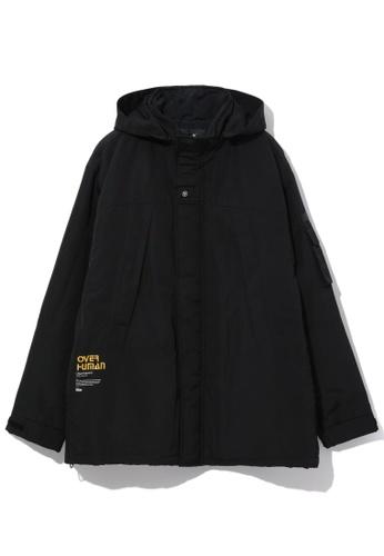 Fivecm black Over Human hooded jacket 09876AAD6F1E5EGS_1