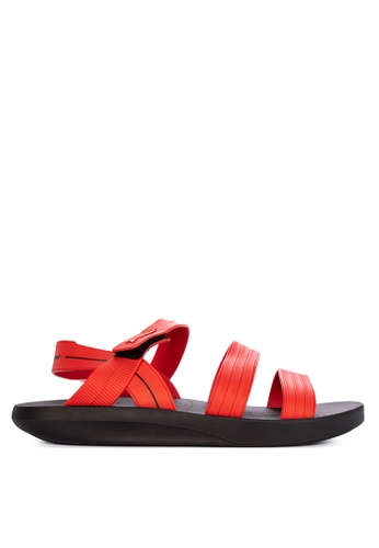 Rider black and red Rush Papete AD Sandals 7A0FCSHA8C4344GS_1
