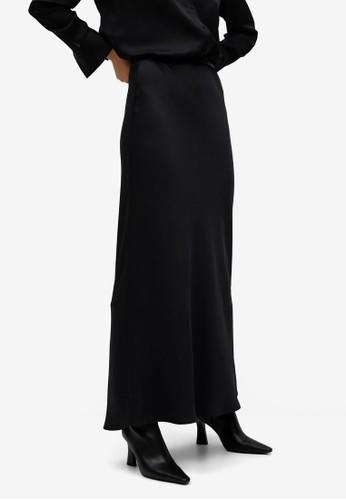 Mango black Flared Long Skirt 5B188AA7EE3A25GS_1