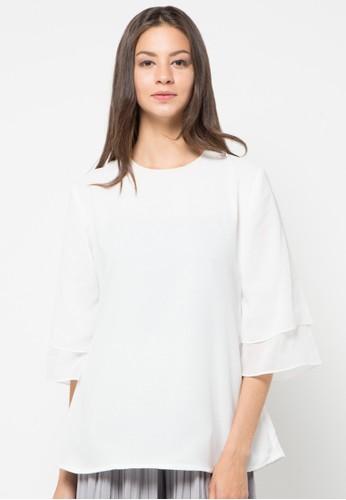 Chanira white Lili Glitter Blouse CH930AA17HOSID_1