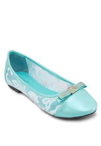 蝴蝶結蕾絲平底鞋, 女鞋, 芭蕾平zalora 手錶 評價底鞋