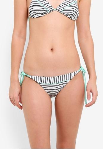 Piha white Shadow Stripes String Bikini Bottom PI734US0ROSQMY_1