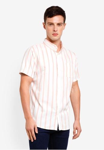 Cotton On 白色 Vintage Prep Short Sleeve Shirt 61143AA169709FGS_1