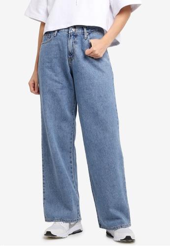 Stylenanda blue High Waist Wide Jeans 400BEAACC80A85GS_1