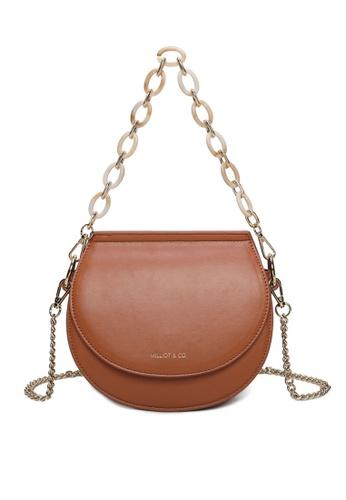 Milliot & Co. brown Xylia Sling Bag 4DBB4AC91B6413GS_1