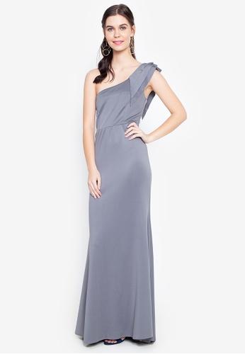 Tantease grey Rebecca Long Dress BB324AACC72B94GS_1