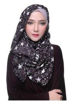 Diindri Hijab Stars 2.0 Pashmina bawah