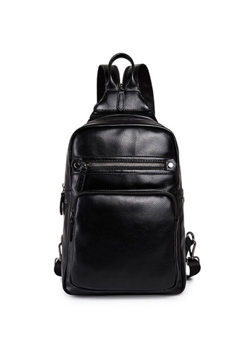 Lara black Plain Zipper Cross Body Bag - Black 55259ACCC73C97GS_1