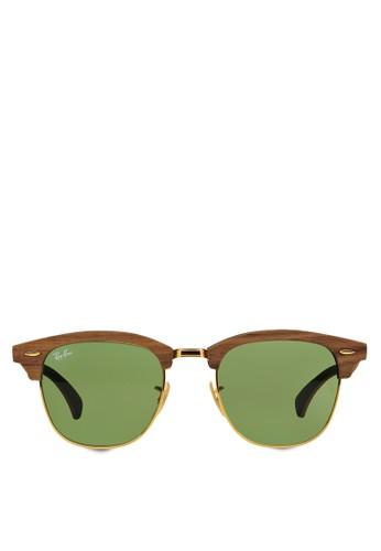 Clubmaster 木製太esprit 工作陽眼鏡, 飾品配件, 飾品配件