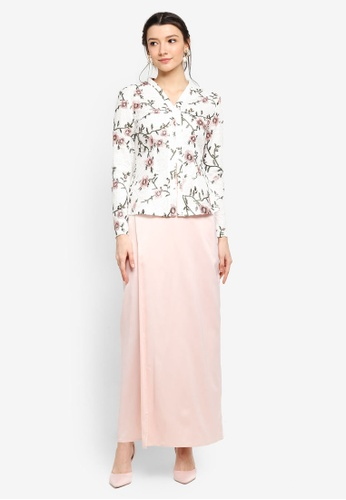Zalia white Embroidered Lace Top Kebaya 5F514AA47A2474GS_1