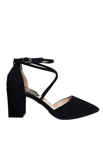 Twenty Eight Shoes black Cross Straps Point Toe Heels VL888 8DEE5SH693B346GS_1