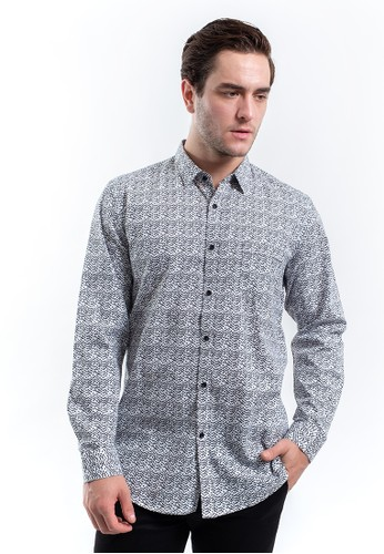 MANLY black MANLY Kemeja Slim Fit Fabricio Black Long Sleeve 39404AABC4CDE1GS_1