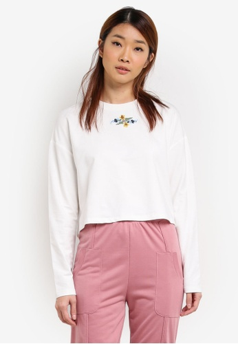 Something Borrowed white Embroidered Wide Cut Sweater A4C63AA75AE9C9GS_1