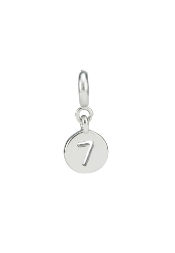 My Flash Trash silver Silver number 7 charm 9212AACF53B741GS_1