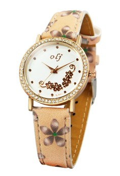 OLJ Belle Leather Strap Watch B1644