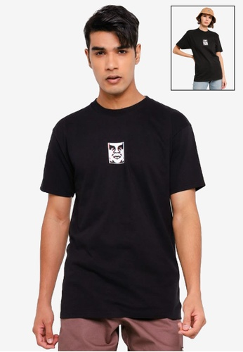 OBEY black Double Vision Tee BC71EAA948A881GS_1