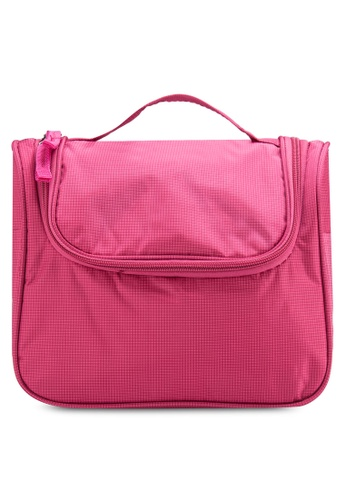 Bagstationz pink Bagstationz Lightweight Water Resistant Travel Organizer and Toiletries Pouch BA607AC12UJRMY_1