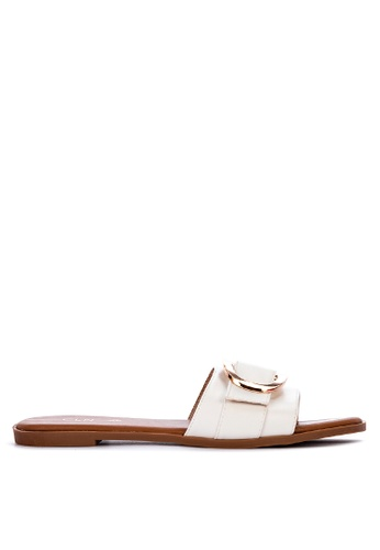 CLN white York Slide Sandals 6FFB0SHFD4C9AEGS_1