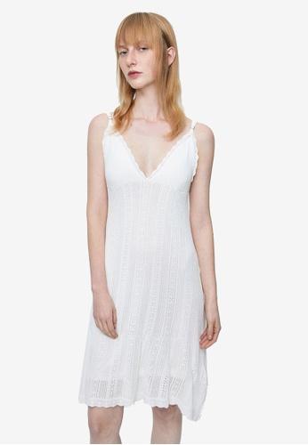URBAN REVIVO white Slip Lace Dress 3DA3FAA729B50CGS_1